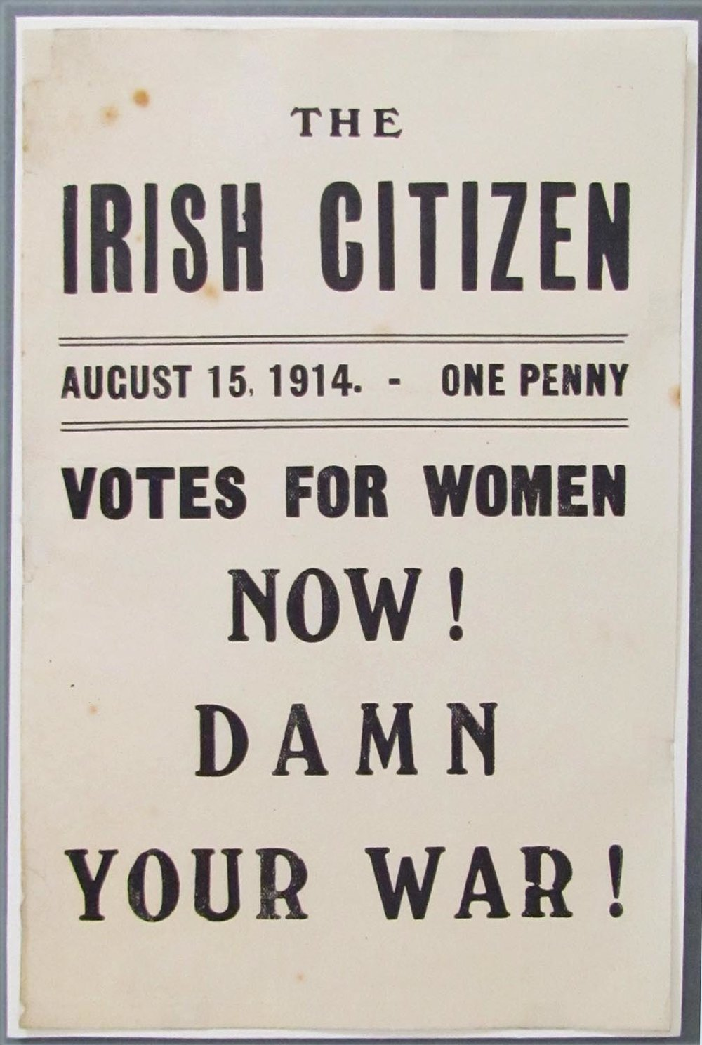Poster advertising The Irish Citizen newspaper. Now in the National Library of Ireland.