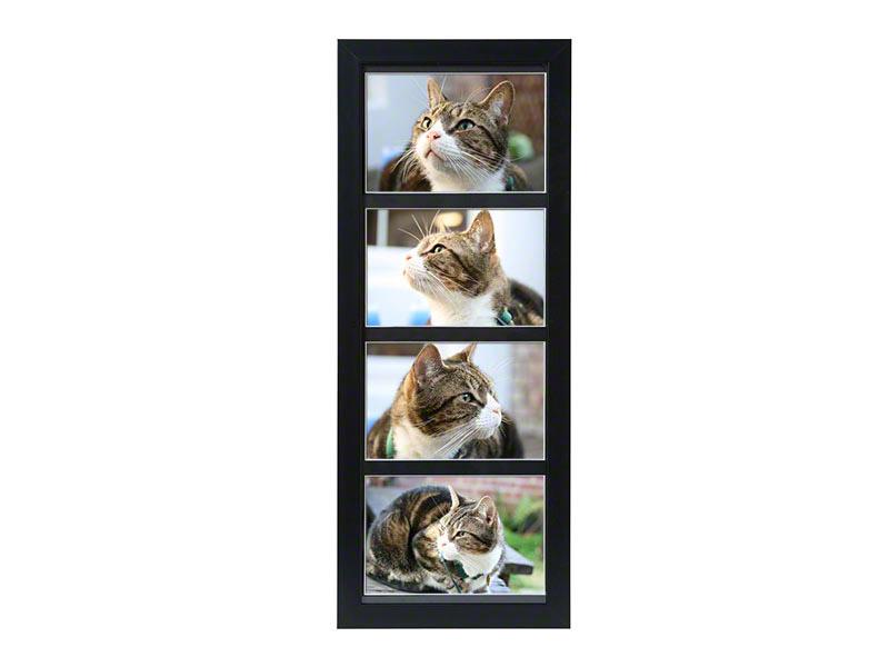 Tribute Frames   De zwarte fotolijst urn bevat achter de foto een ruimte waarin u de as van uw geliefde huisdier kunt bewaren .  In deze lijst kunt u een 4 foto's plaatsen van 15 x 10 cm .  Deze lijst is staand te gebruiken en kan ook aan de muur worden gehangen .  De urn heeft een inhoud van 1650 cc. €94,-
