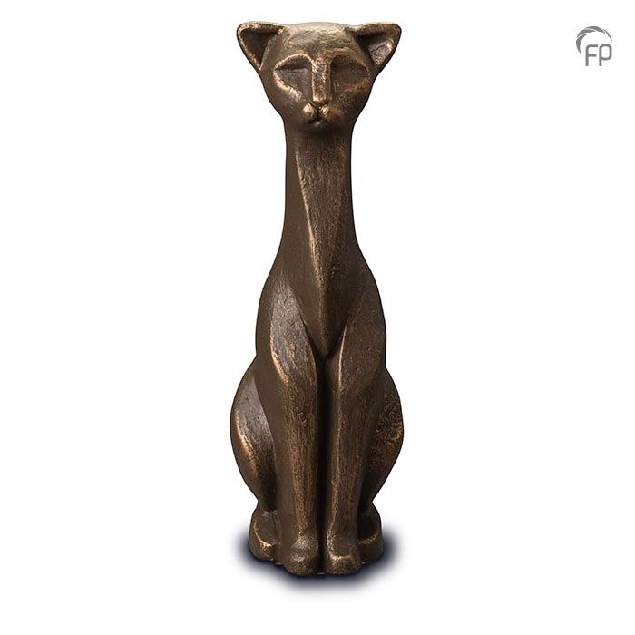 UGK 208  Keramische dieren art urn met bronzen afwerking.  Elke Geert Kunen urn is uniek en wordt op bestelling gemaakt. Daarom zit er op deze producten een levertijd van 3 à 4 weken.  UGK 208 € 179,00 / 0.70 L / H 30 CM