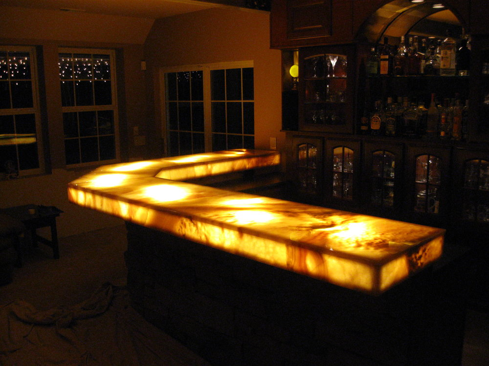 Light Up Granite Counter