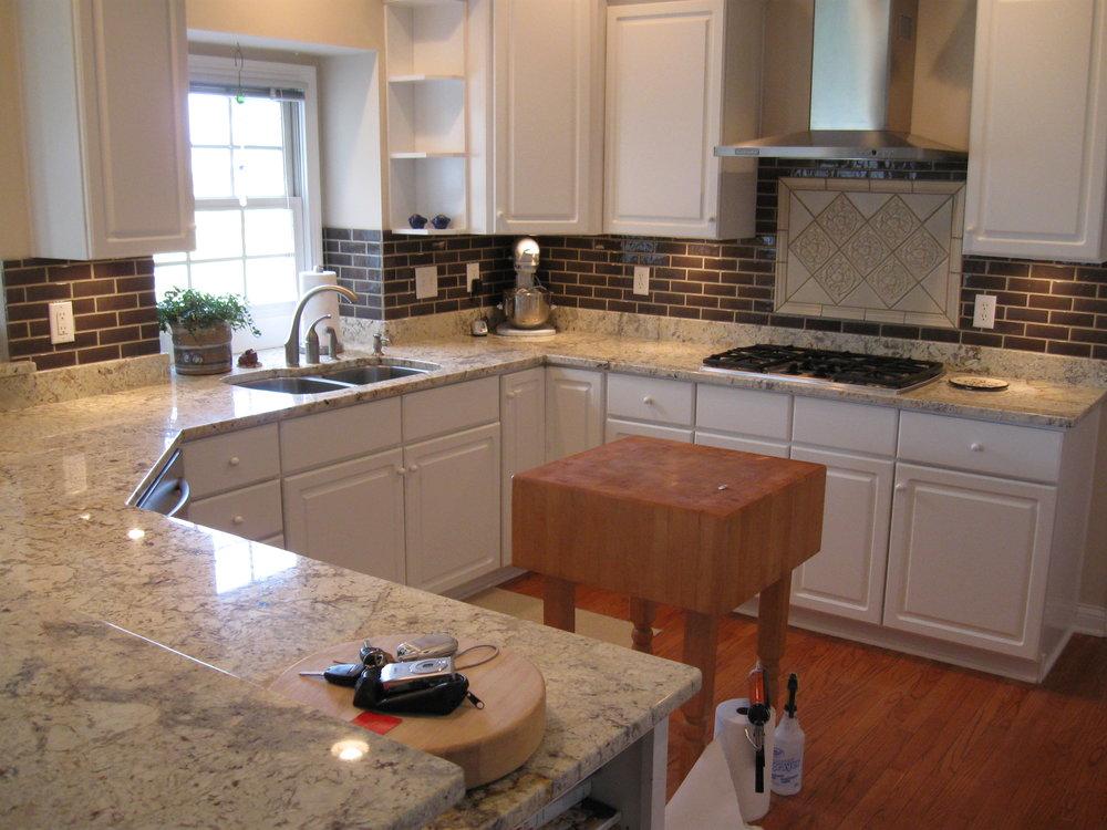 White Persia Granite Kitchen 1