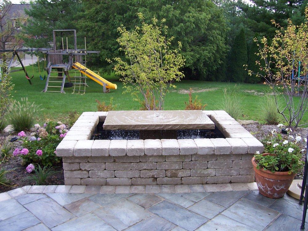 Backyard Granite Water Feature