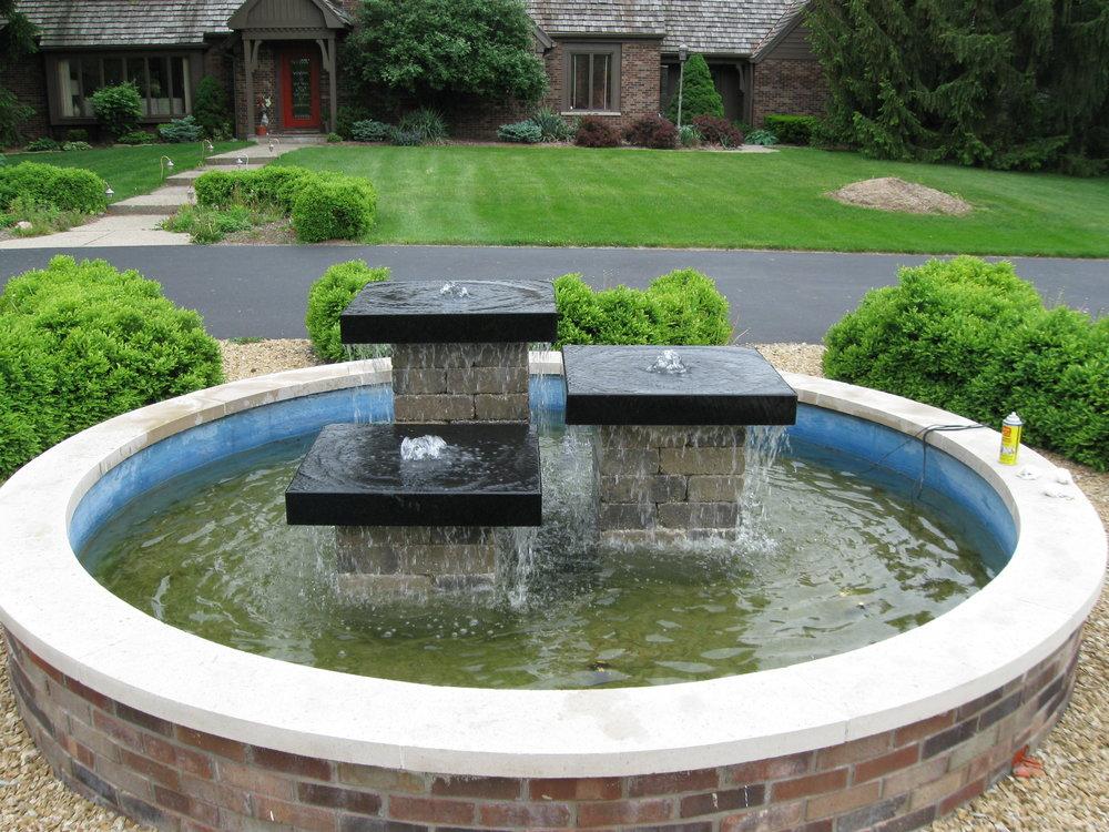 Black Granite Stone Fountain 1