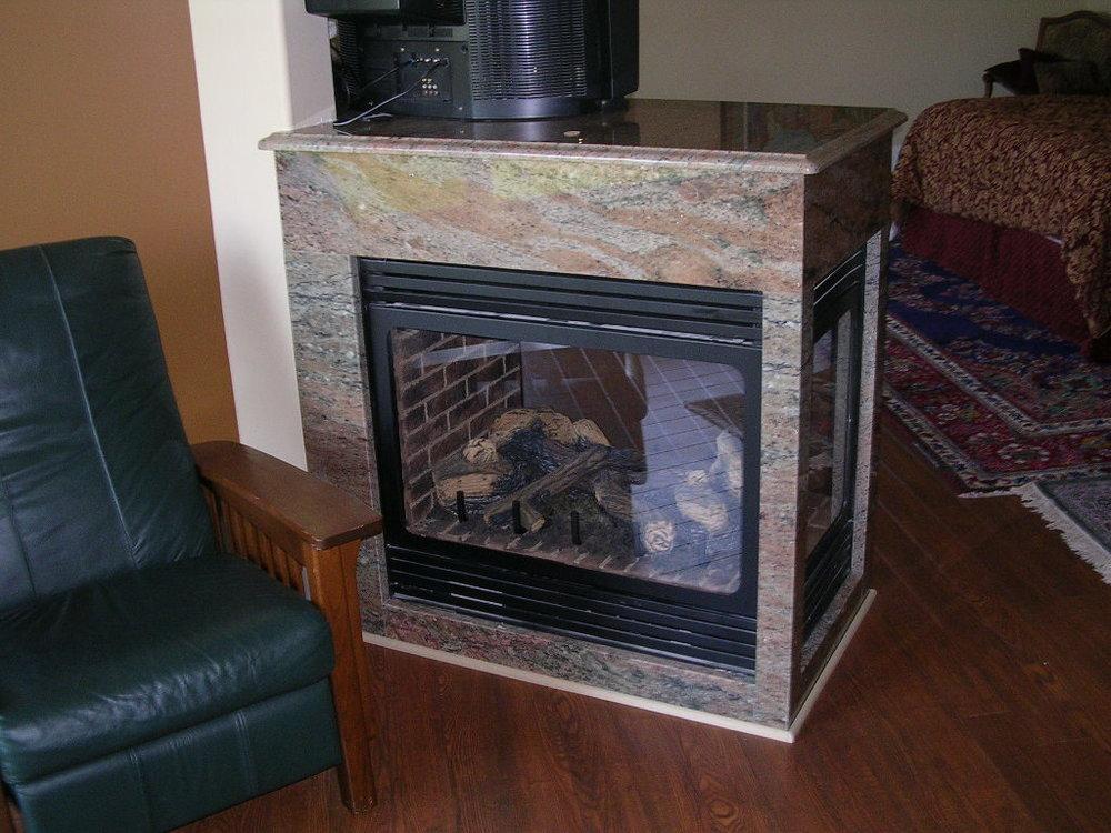 Granite Fireplace Samaan Rosewood 1