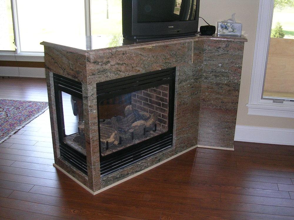 Granite Fireplace Samaan Rosewood 2