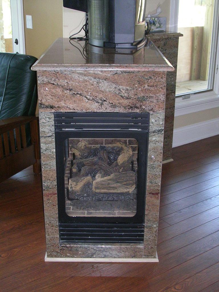 Granite Fireplace Samaan Rosewood  3
