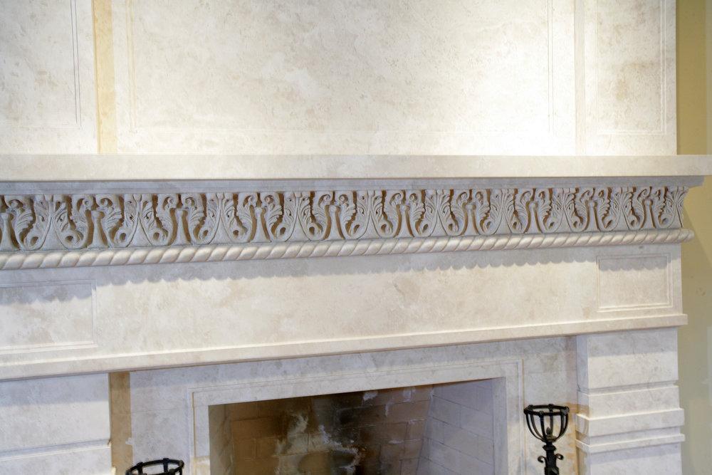 Granite Fireplace Mantel Carvings