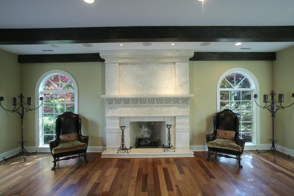 Luxury Granite Fireplace
