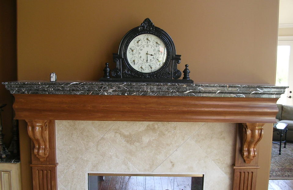 Granite Fireplace Mantel