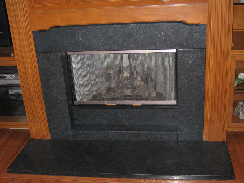 Black Granite Fireplace 2