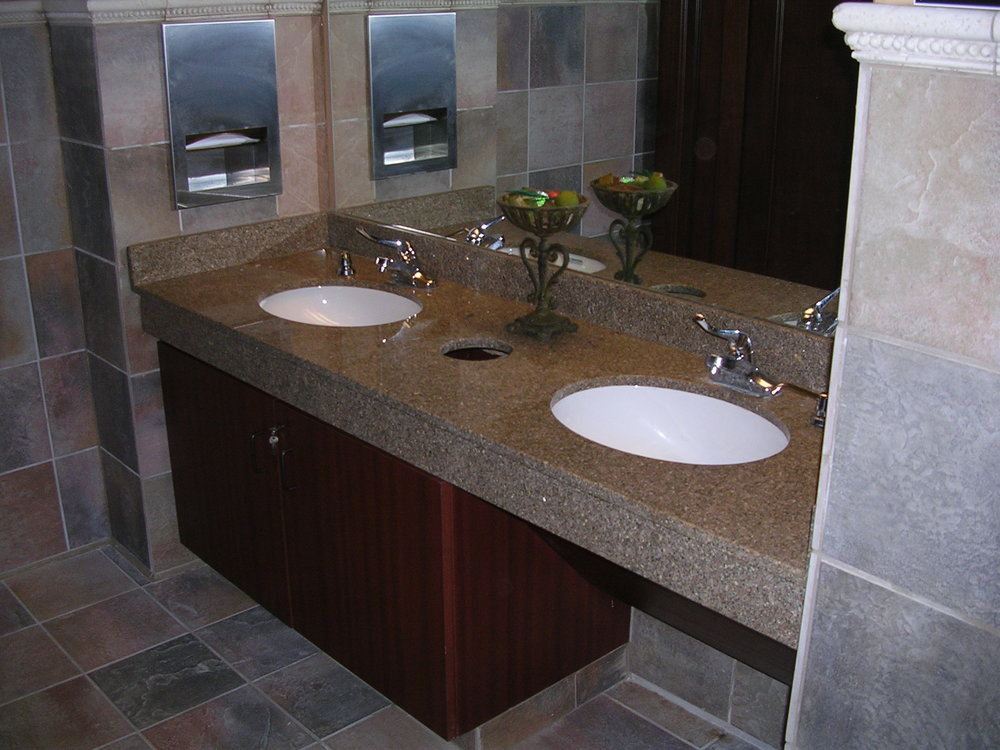 Granite Double Vanity