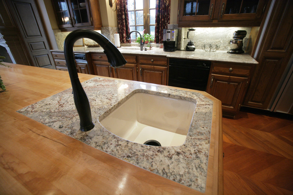 Granite and Wood Sink