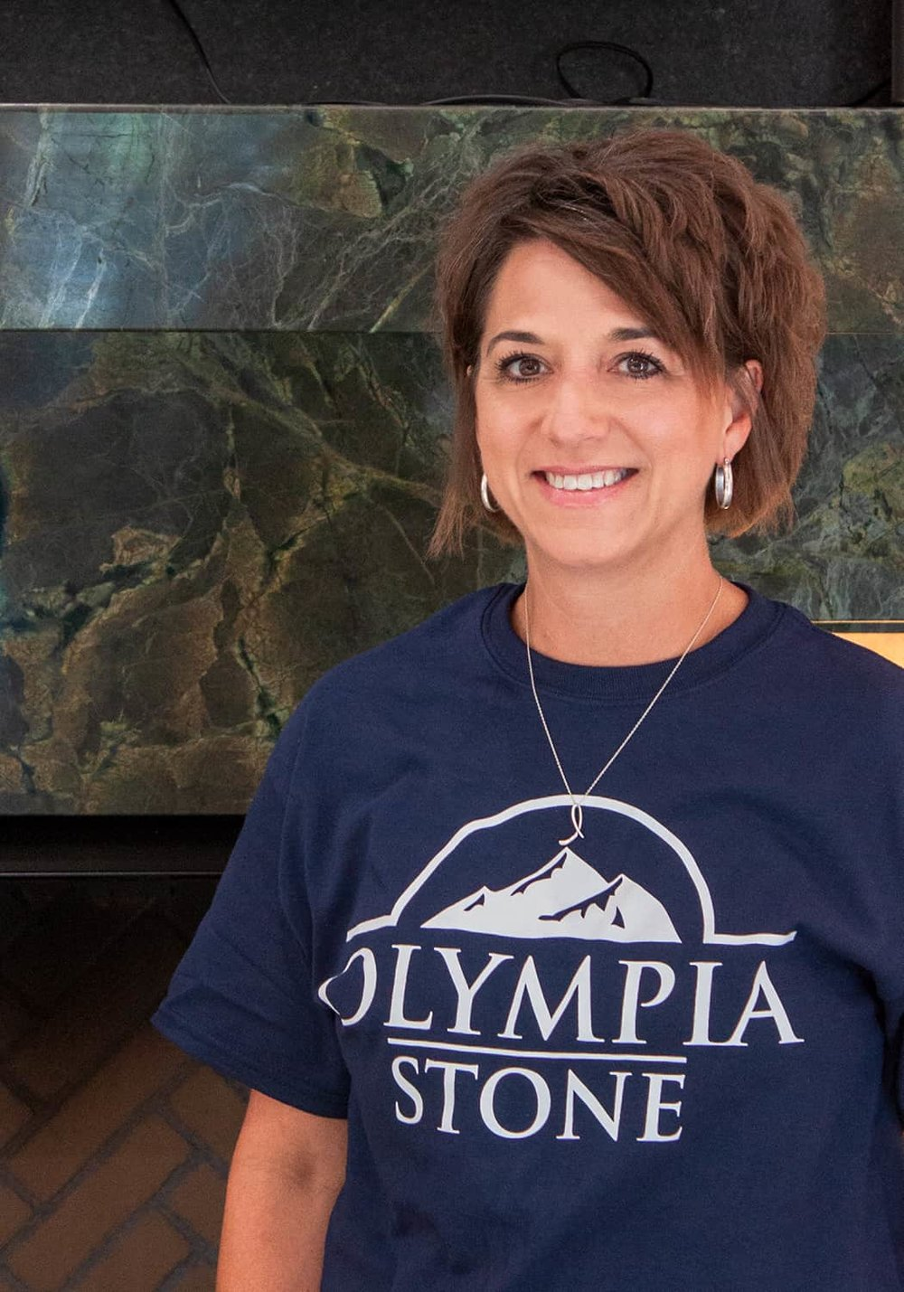 Olympia Stone Manager Lori Van Cleave