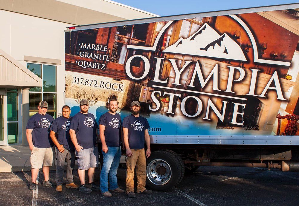 Olympia Stone Intallation Team