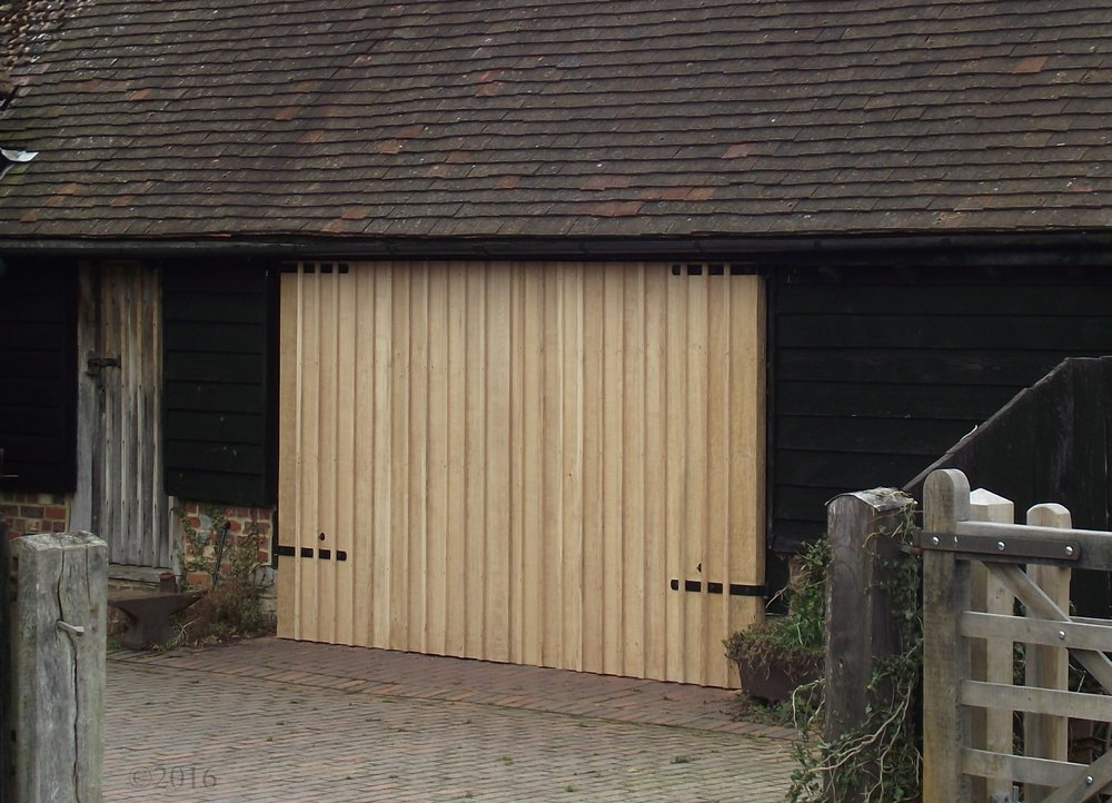 Solid Oak barn doors.