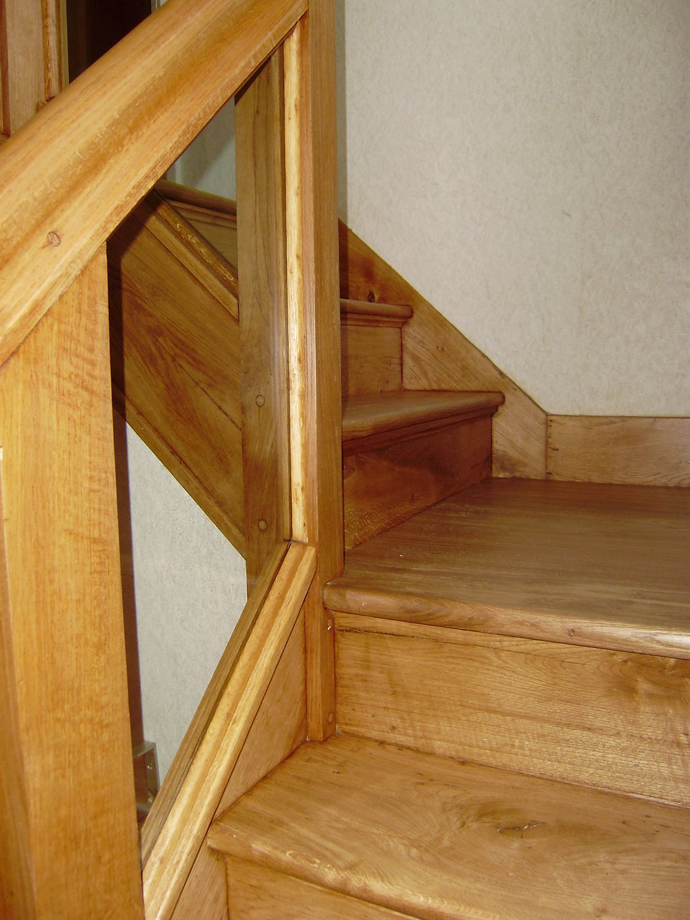 Transformation - The whole staircase was sanded back and re finished, with toughened glass replacing the plywood.