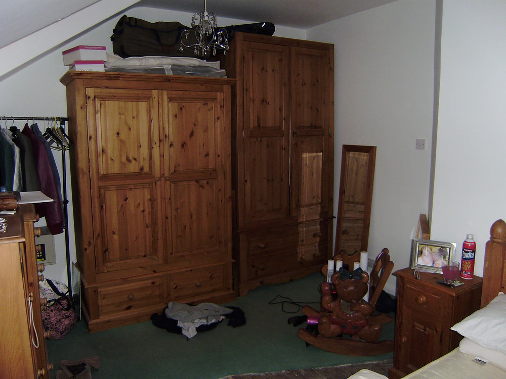 Before - This shows the room before.