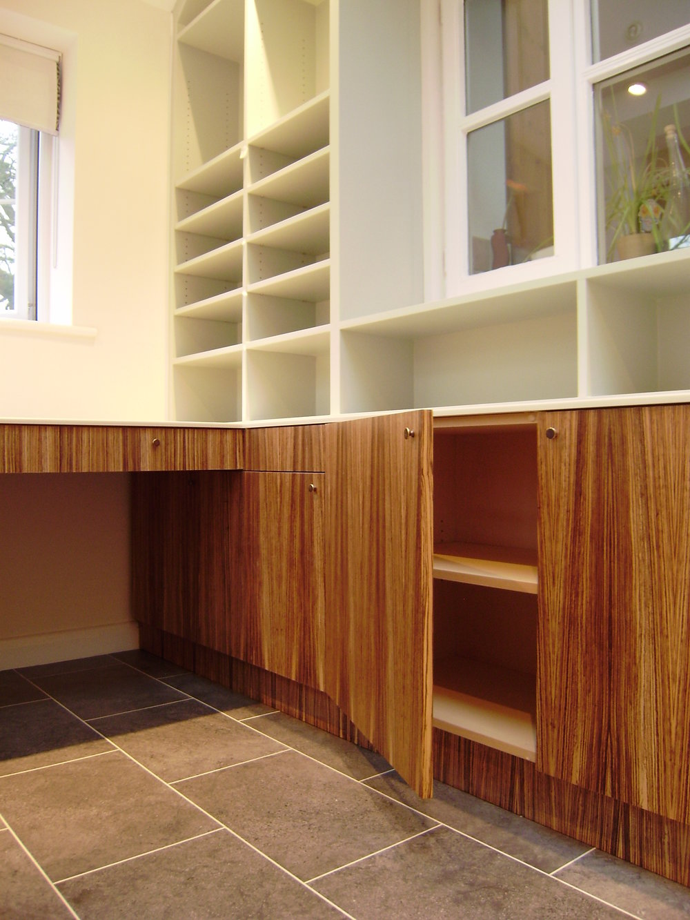 - Every possible space incorporates storage.