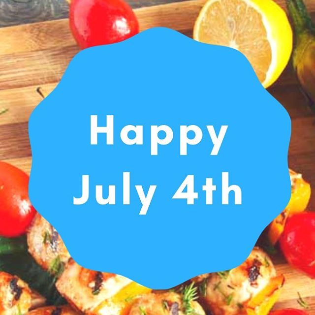 Enjoy today's holiday! . . . #4thofjuly #summertime #summervibes #july4th