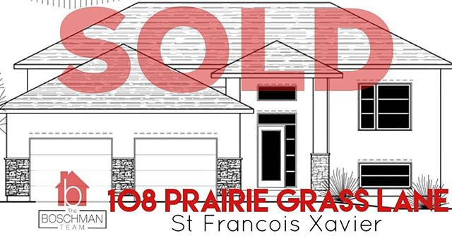 SOLD: 108 Prairie Grass Lane in St Francois Xavier!! A huge congratulations goes out to the home buyers of this brand new home, to be built by Connection Homes! Can't wait to see the finished product! If you are looking for an affordable brand new custom built home, reach out to me anytime!  #stfrancoisxavier #manitoba #motivatedtomoveyou #manitobarealestate #theboschmanteam #sellwiththeboschmanteam #connectionhomes