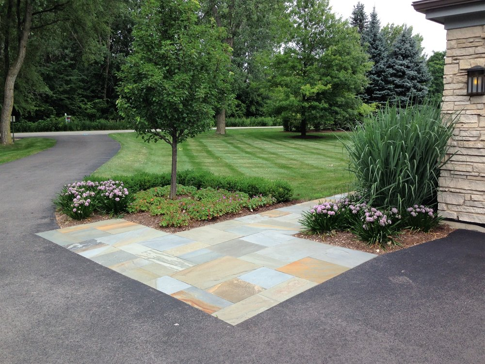 Hardscape after being redesigned and renovated in Batavia, IL