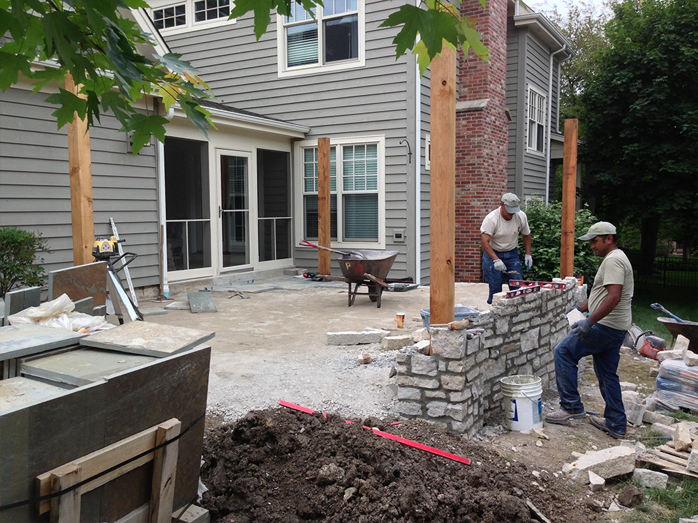 Landscape construction in Batavia, IL