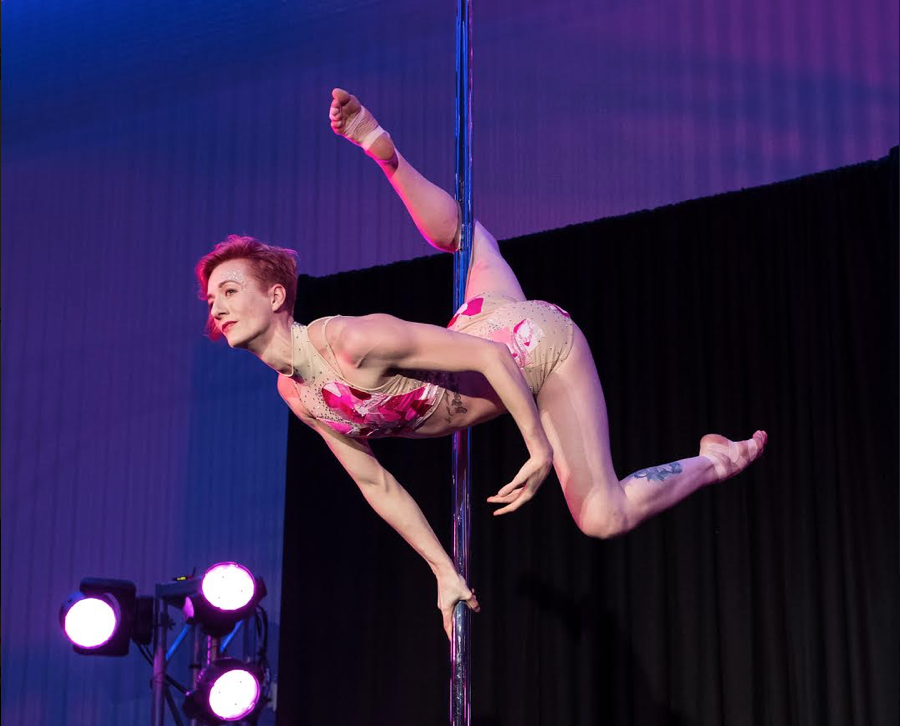 Libby discovered a love for dance at the age of thirteen and studied jazz and ballet throughout high school. Although it was her dream to be a dancer, she studied advertising and communications in college and university, traveling to Queensland, Australia to complete her degree. It was here that she first found  her way into the world of pole dance. After moving back home to Canada, Libby decided she wanted to both teach and compete, and began to solidify her pole career. Since 2013, she has taught regular classes at eight different pole studios, toured workshops across Ontario, competed, and won titles both nationally and internationally. Her focus now is one-on-one coaching for competition and performance.  Outside of pole, Libby keeps herself busy with all kinds of creative activities, from pottery and miscellaneous craft projects, to cutting and dying her own hair, to playing Dungeons & Dragons. She's a cat lady at heart with two fur babies of her own: Sapphire and Lucky.