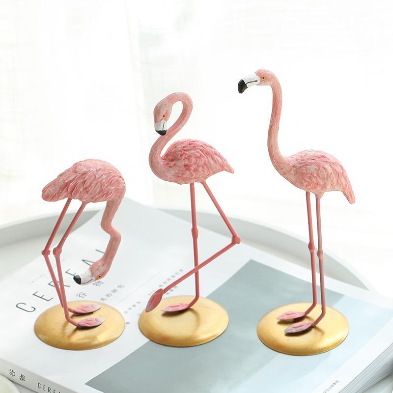 Pink Flamingos Figurines