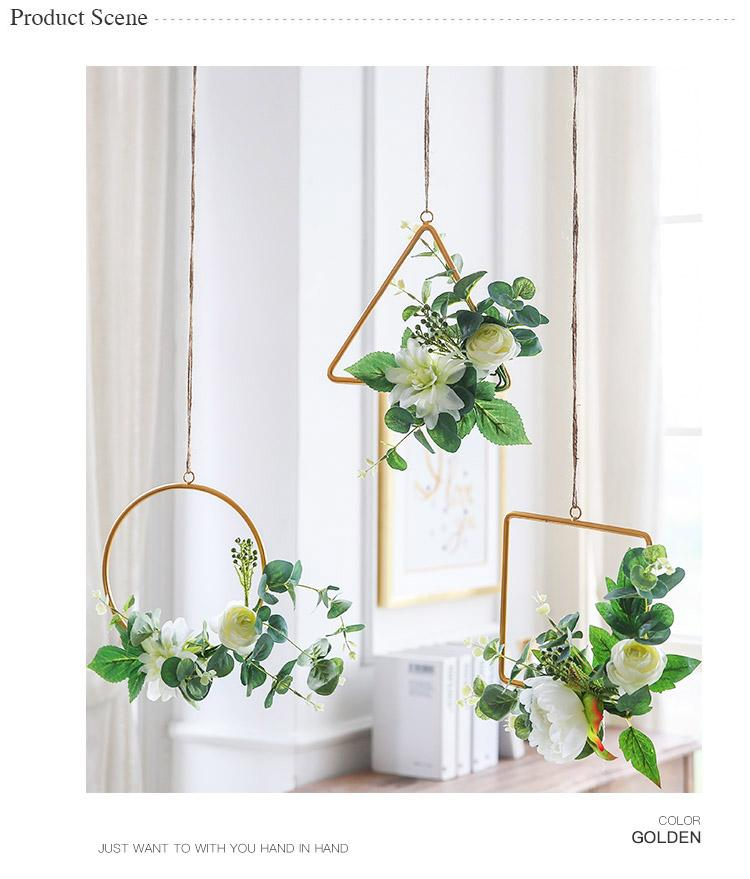 Hanging Accessories Metal Frame with Flower Set