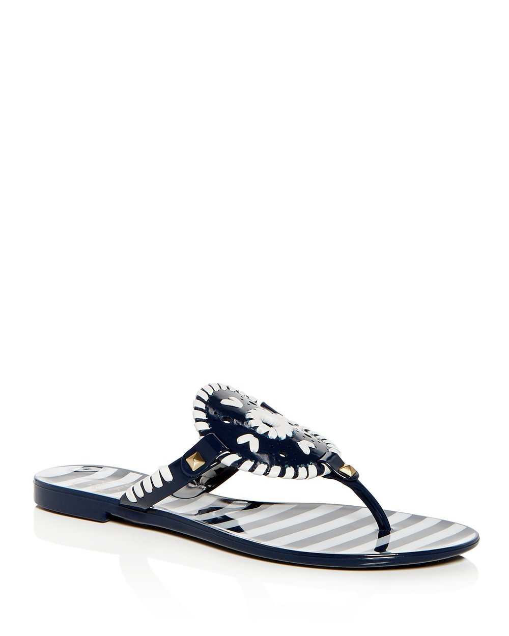 Women's Georgica Striped Jelly Thong Sandals - JACK ROGERS