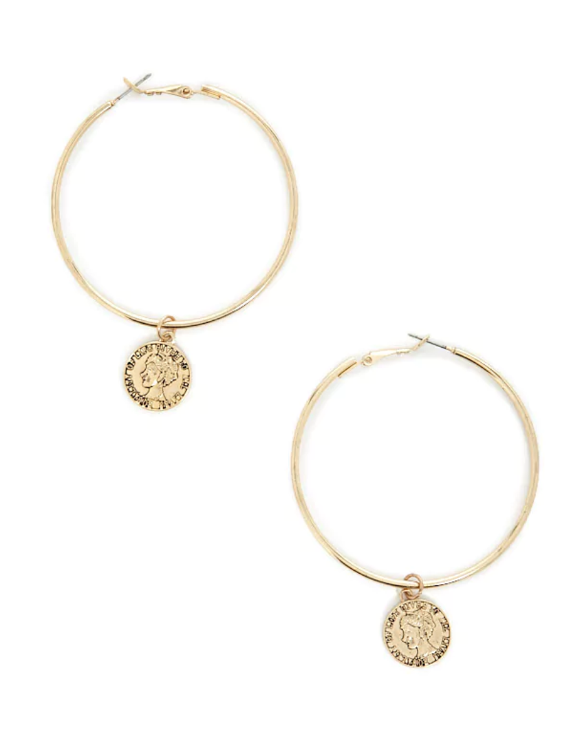 Equality Coin Hoop Earrings - FOREVER 21