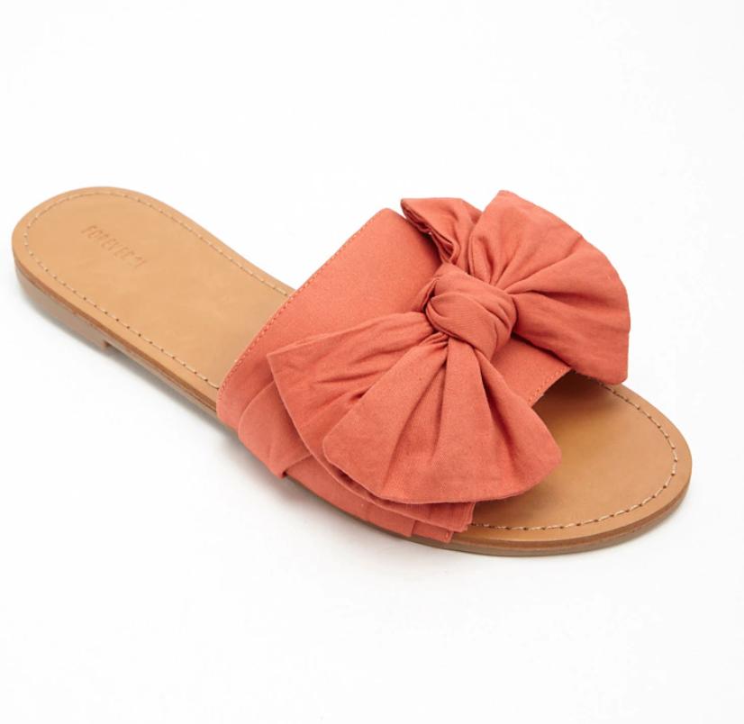 Bow Slide Sandals - FOREVER 21