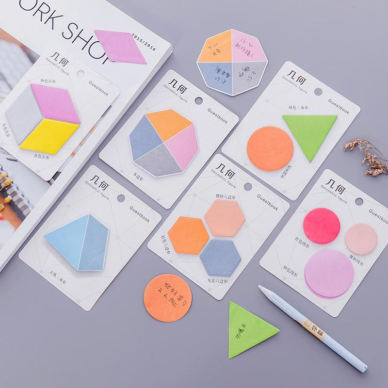 Colorful Geometry Post its -