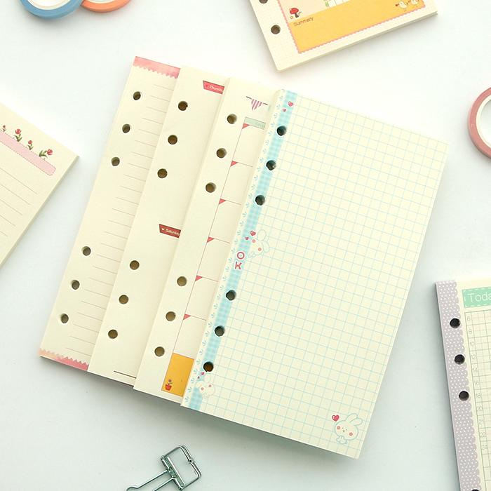 Cute Colored Diariy Refills Binder Filler Paper -