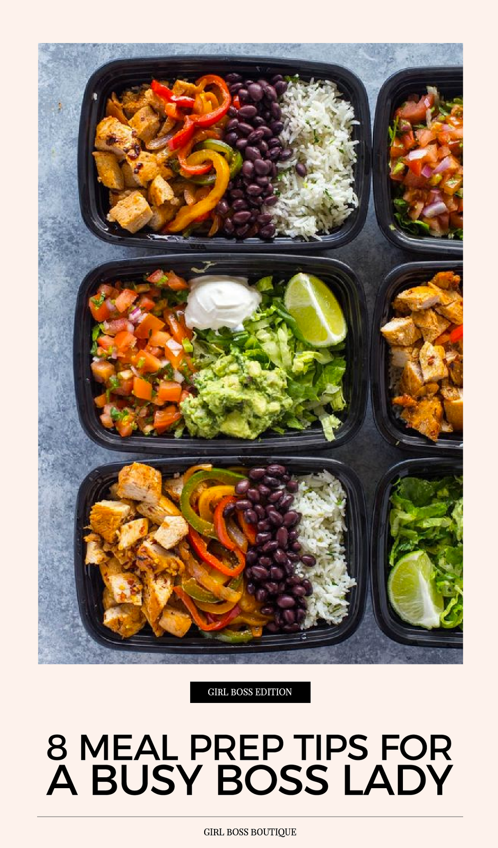 8 Meal Prep Tips for a Busy Boss Lady