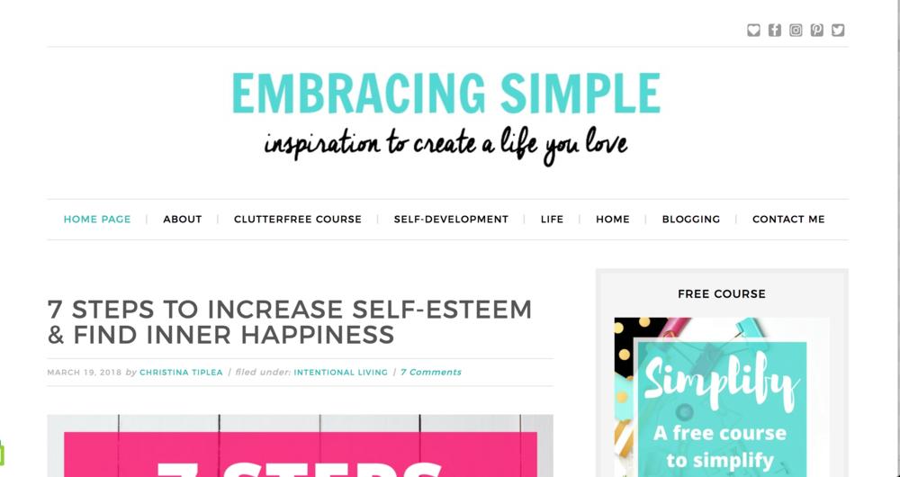 Embracing simple blog