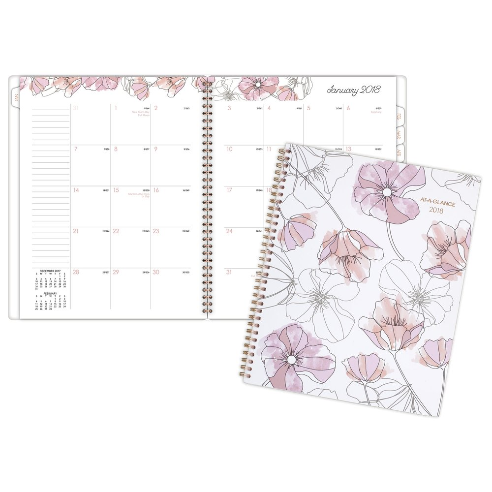 2018 AT-A-GLANCE Blush Monthly Planner