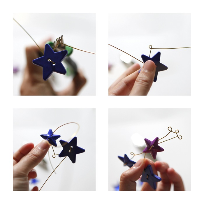 AN  EXPLANATION :  1 and 2. I made a loop.  3. I added a second star and another loop.  4. I added a third star and more loops.