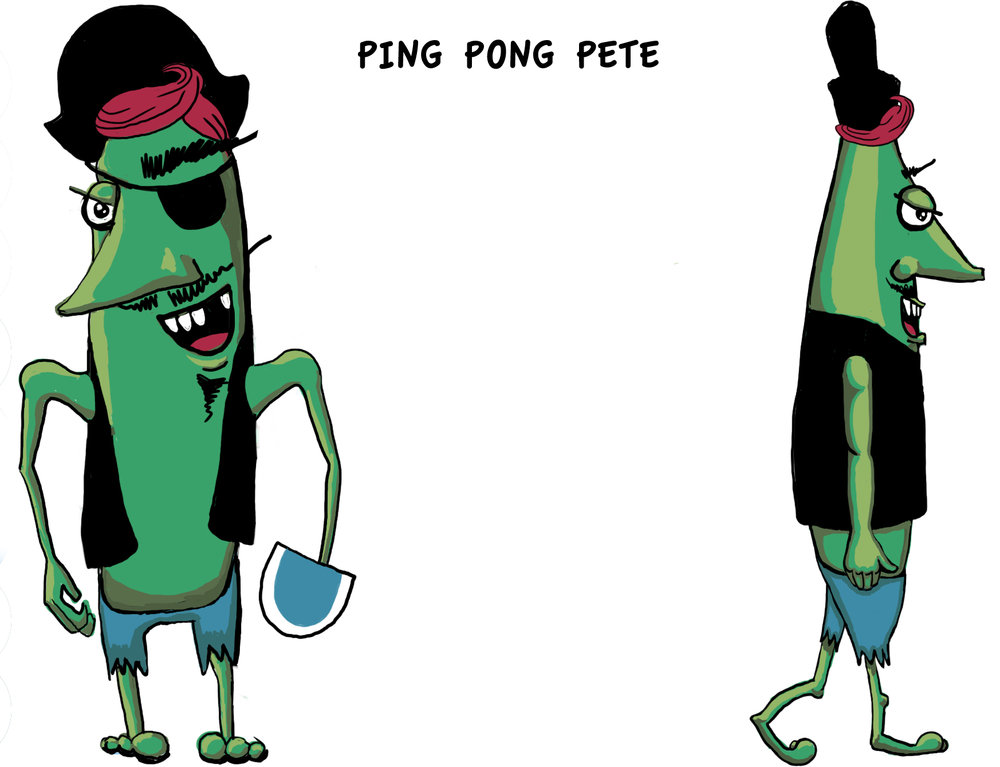 Ping Pong Pete - Created for Sir Crazy Pants, 2012