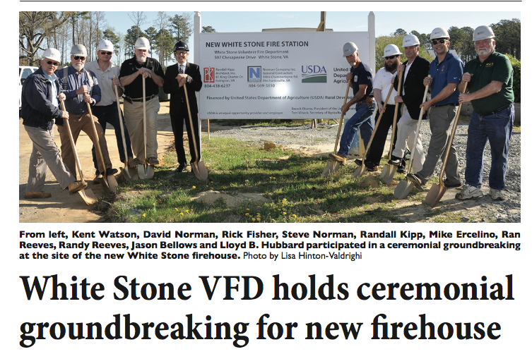 "WSVFD Groundbreaking Ceremony Held   ""Designed by Randall Kipp, the new 12,026-square-foot firehouse will include a 6,313-square-foot apparatus room...""  Read More   »"