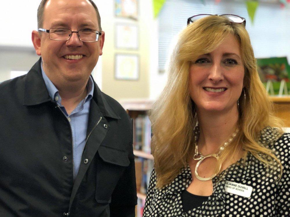 Keith Meberg and Julie Duvall, Chesapeake Academy Head of School