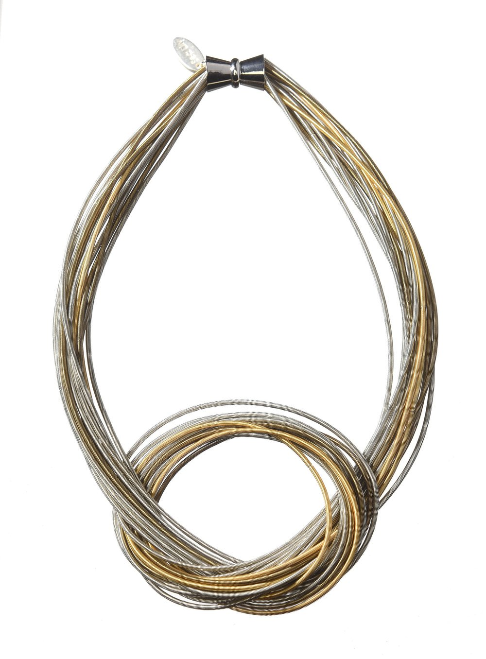 Muli Strand Piano Wire Necklace