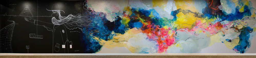 'He Dreamed in Color' 33' x 8' mural in collaboration with  Kat Green .