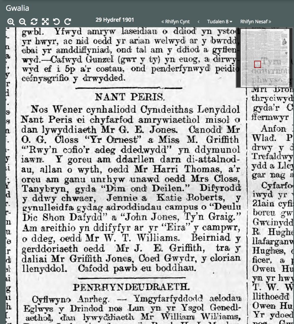 Griffith Jones wins clorian llenyddol 1901.png