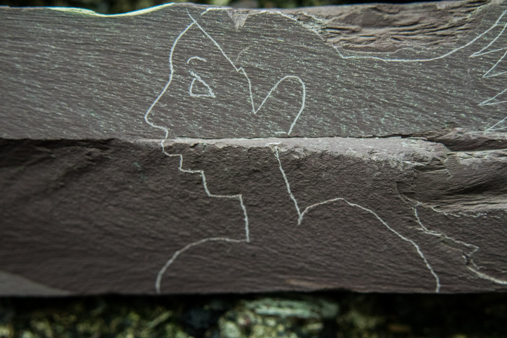 Graffitti in the Caban at Y Fron