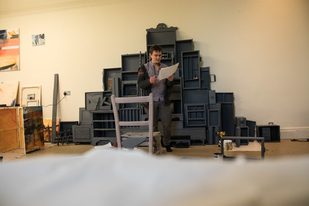 Rhys Trimble performing the 5000 names of quarries and mines of North Wales, March 2019. I hope to use the sound recording as part of the installation.   You can listen to a sample here
