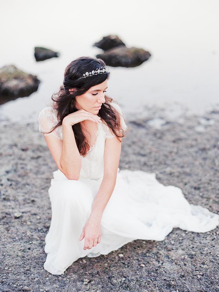 Michelle-March-Photography-Wedding-Photographer-Miami-South-Florida-Vintage-Film-Jenny-Packham-Sea-Ocean-Shells-1
