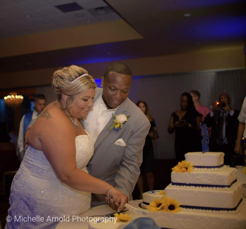 Cutting the cake...