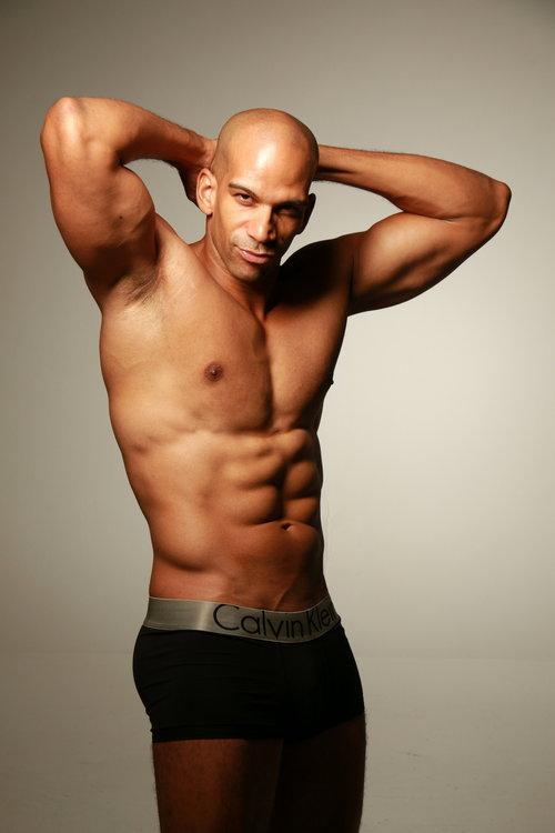 Fit male model posing in underwear