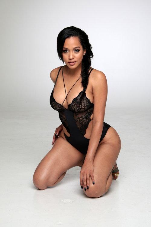 Sexy model posing in lingerie